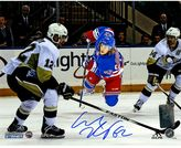 "Steiner Sports New York Rangers Carl Hagelin Winning Shot Signed 8"" x 10"" Photo"
