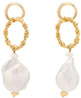 Joanna Laura Constantine yellow gold-plated baroque pearl drop earrings