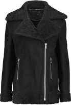 Maje Shearling biker jacket
