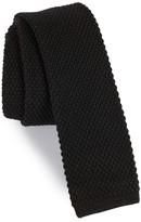 Michael Bastian Men's Solid Knit Wool Skinny Tie