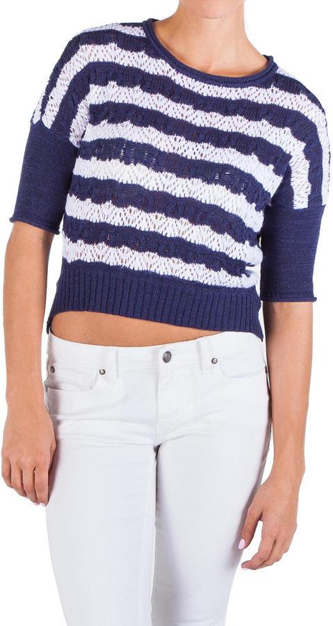 Jessica Simpson Admire High Low Patriot Blue Sweater Juniors
