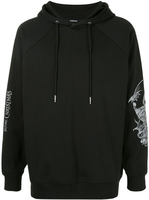 Songzio Oversized Embroidered Sleeve Hoodie