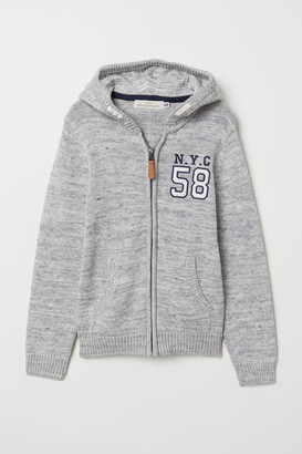 H&M Knit Hooded Jacket - Gray