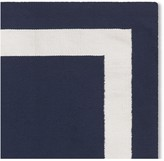 Williams-Sonoma Solid Border Indoor/Outdoor Rug, Navy