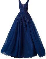 GlorySunshine V-neck sleeveless lace wedding dress Slim big swing dress L