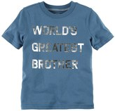 """Carter's Boys 4-8 World's Greatest Brother"""" Graphic Tee"""