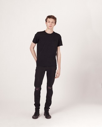 Rag & Bone Fit 1 low-rise - black with holes
