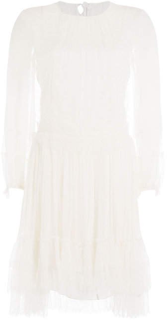 Alberta Ferretti Embroidered Lace Dress
