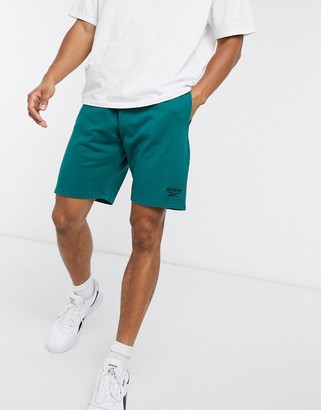 Reebok Classics Premium washed shorts in deep teal