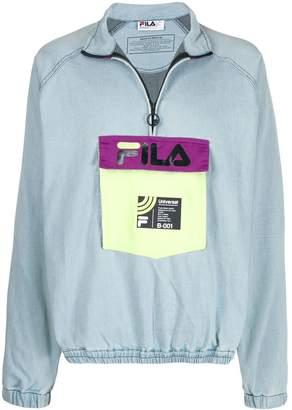 Fila contrast logo sweatshirt