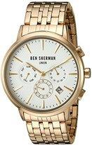 Ben Sherman Men's 'Portobello Professional' Quartz Stainless Steel Watch, Color:Silver-Toned (Model: WB028GMA)