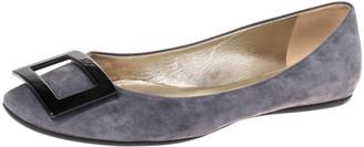 Roger Vivier Grey Suede Gommette Ballet Flats Size 39