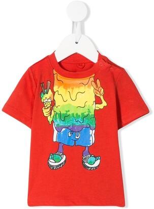 Stella McCartney Kids monster print T-shirt