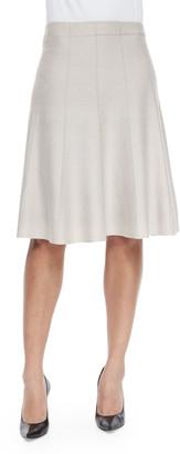 Nic+Zoe Petite Paneled Twirl Skirt, Silver Cloud