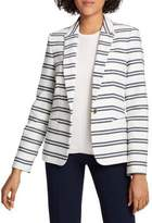 Tommy Hilfiger Textured Stripe Blazer with Elbow Patches