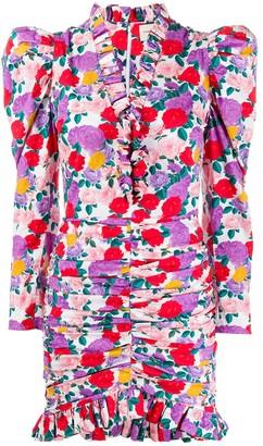 Giuseppe di Morabito Ruffled Rose-Print Dress