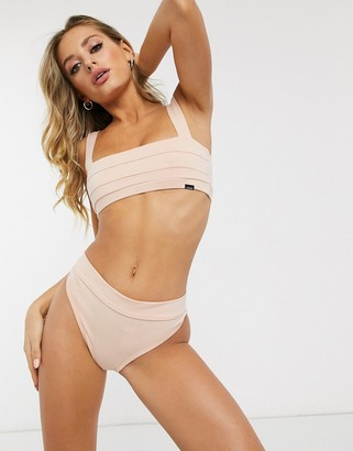 LÉ BUNS Robbie organic cotton thong in blush