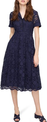J.Crew Mahalia Lace Midi Dress