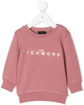 John Richmond Junior Logo-Print Crew Neck Sweatshirt