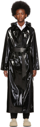 Kassl Editions Black Long Lacquer Coat
