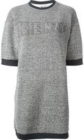 Kenzo embroidered logo sweatshirt dress