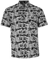 Topman Gray Cheetah Print Short Sleeve Casual Shirt