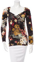 Just Cavalli Long Sleeve Floral Top