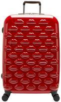 Lulu Guinness Hard Sided 4-Wheel Medium Case - Red