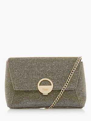 Dune Bethy Logo Clutch Bag, Bronze