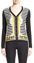 Versace Women's Catwalk Print Silk & Wool Cardigan