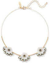 New York & Co. Floral Goldtone Choker Necklace