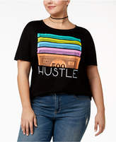Hybrid Plus Size Hustle Graphic T-Shirt