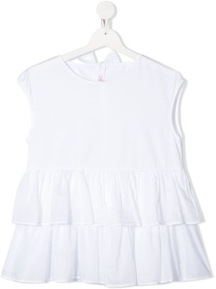 Il Gufo Tiered Ruffled Top