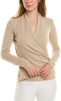 Lafayette 148 New York V-Neck Wrap Front Sweater