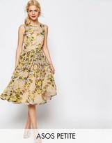 Asos Yellow Rose Soft Midi Prom Dress
