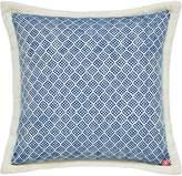Joules Blue woven cushion 40x40cm