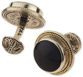Konstantino Round Onyx & Gold Cuff Links
