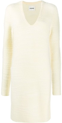 Jil Sander long-line knitted jumper