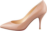 Christian Louboutin Piou Piou Patent Point-Toe Red Sole Pump, Nude