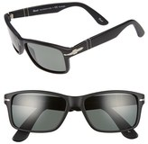 Persol Men's 58Mm Rectangle Sunglasses - Matte Black