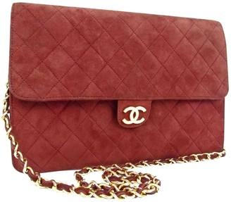 Chanel Burgundy Velvet Handbags