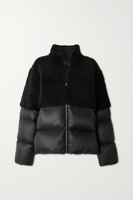Moncler + Rick Owens Coyote Shearling And Quilted Shell Down Jacket - Black