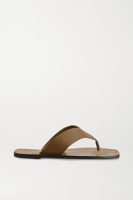 ATP ATELIER Merine Leather Flip Flops - Brown