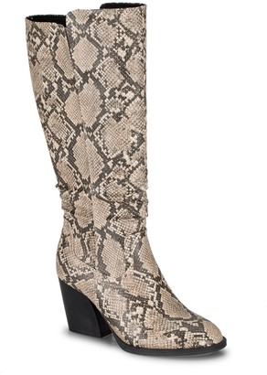 Bare Traps Lilly Tall Snakeskin Embossed Boot