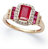 Macy's Ruby (1-5/8 ct. t.w.) and Diamond (1/5 ct. t.w.) Ring in 14k Rose Gold