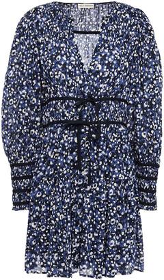 Ulla Johnson Bow-detailed Printed Cotton-gauze Mini Dress