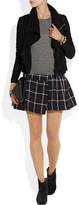 Etoile Isabel Marant Plaid cotton and wool-blend mini skirt