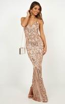 Showpo Capture Recapture dress in Rose gold sequin - 8 (S) Wedding &