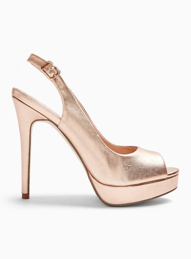 Slingback Harper Sandals Platform Gold yb6Y7vfg
