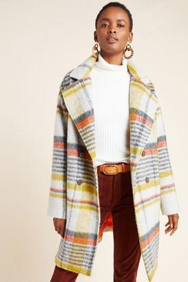 Eva Franco Camille Double-Breasted Plaid Coat